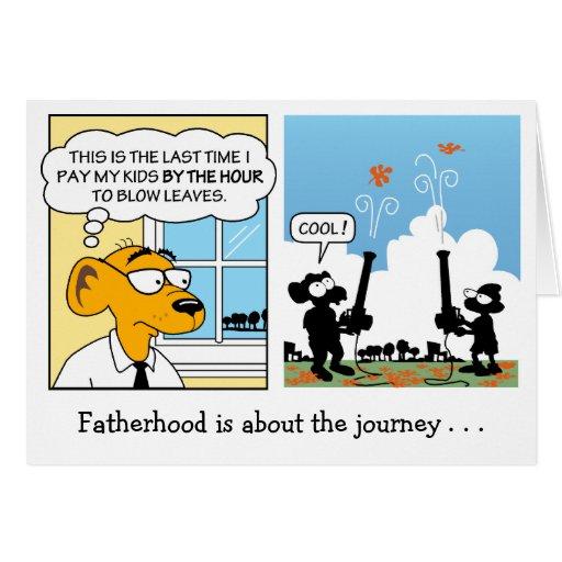 Carte de fête des pères : Paternité