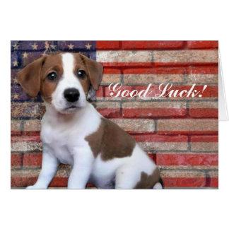 Carte de Jack Russell Terrier de bonne chance