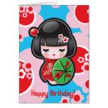 Carte de joyeux anniversaire de Kawaii