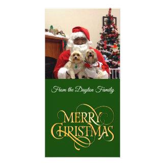 Carte de Joyeux Noël de photo personnalisée