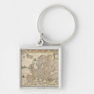 Carte de l Europe 6 Porte-clé