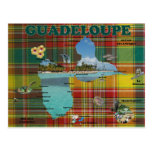 Carte de la Guadeloupe en madras Cartes Postales