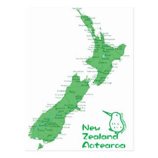 Carte de la Nouvelle Zélande Carte Postale
