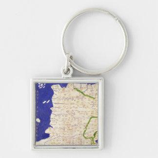 Carte de l'Espagne et du Portugal, de 'Geographia Porte-clé