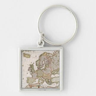 Carte de l'Europe 4 Porte-clés