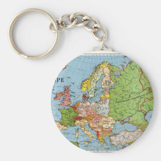 Carte de l'Europe Porte-clé Rond