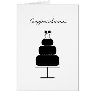Carte de mariage de félicitations