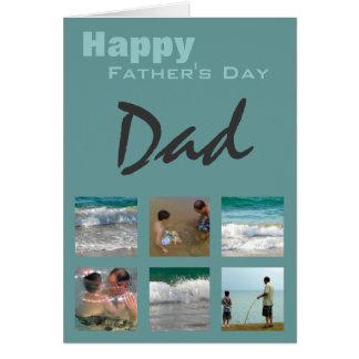 Carte de modèle photo de fête des pères