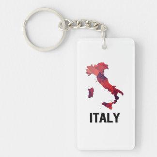Carte de mosaïque de polygone de l'Italie Porte-clefs