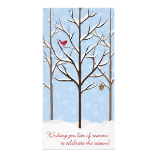 Carte de Noël d'arbres de Milou Cartes Avec Photo