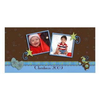 Carte de Noël de mitaines Photocarte Personnalisée