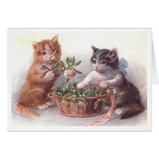 Carte de Noël espiègle de chatons