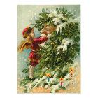 Carte de Noël féerique de Père Noël d'Allemand
