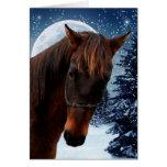 Carte de Noël quarte de cheval