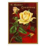 Carte de Noël vintage rare de roses