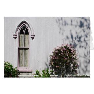 Carte de note de fenêtre de vignoble