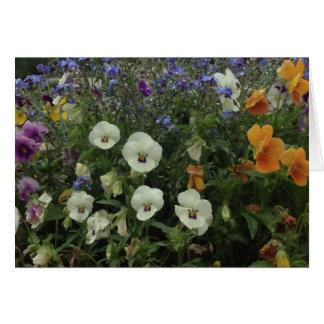 Carte de note de fleur