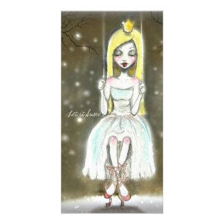 Carte de note de princesse Christmas de ballerine Modèle Pour Photocarte