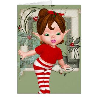 Carte de note féerique de bébé de Noël