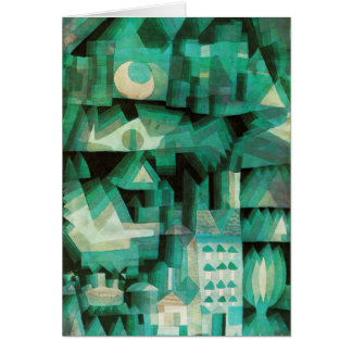 Carte de note rêveuse de ville de Paul Klee