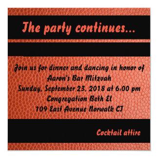 Carte de partie pour la collection de Mitzvah de Carton D'invitation 13,33 Cm
