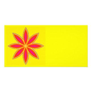 """Carte de photo «flower power """""""