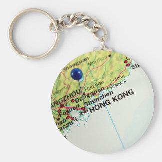 Carte de Pin de Hong Kong Porte-clé Rond