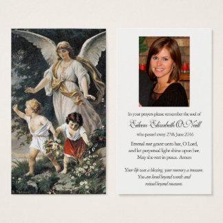 Carte de prière de sympathie d'enterrement de