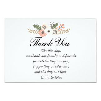 Carte de remerciements chic classique de mariage
