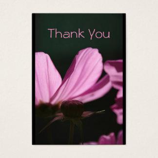 Carte de remerciements Comos et photographie