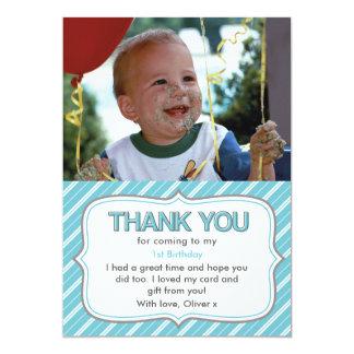 Carte de remerciements d'anniversaire de garçons carton d'invitation  12,7 cm x 17,78 cm
