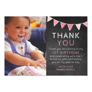 Carte de remerciements d'anniversaire d'étamine de carton d'invitation  12,7 cm x 17,78 cm
