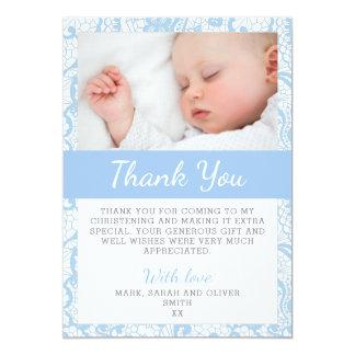Carte de remerciements de baptême de bébé