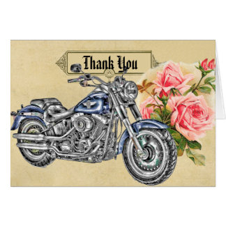 Carte de remerciements de mariage de cycliste