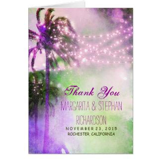 carte de remerciements de mariage de plage avec