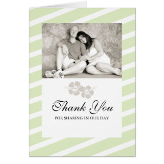 Carte de remerciements de photo de mariage avec