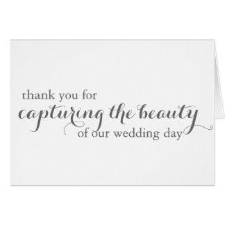Carte de remerciements de photographe de mariage