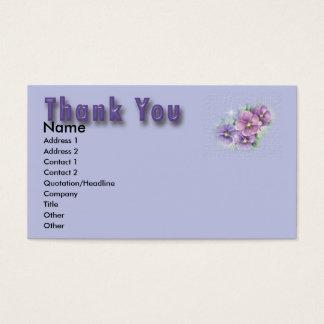 Carte de remerciements floral
