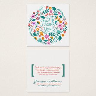 Carte de remerciements floral de client