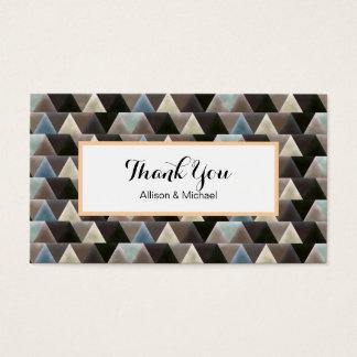 Carte de remerciements géométrique de motif d'art
