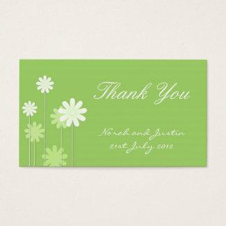 Carte de remerciements vert de mariage de