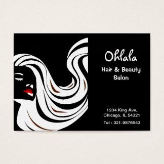Carte de rendez-vous de salon de beauté de cheveux