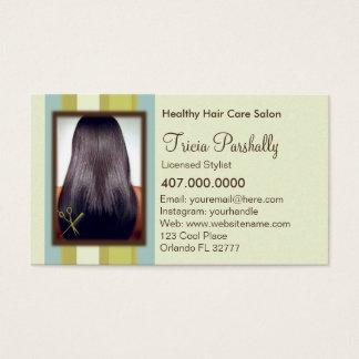 Carte de rendez-vous de salon de coiffure