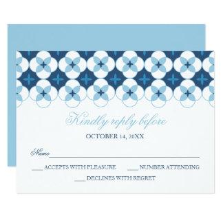 Carte de RSVP - baptême, invitation de baptême -