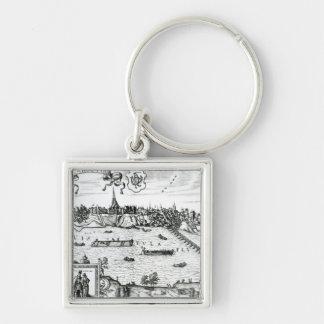 "Carte de Varsovie, de ""Civitates Orbis Terrarum"" p Porte-clé"