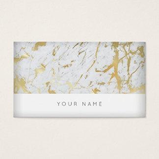 Carte de visite blanc d'or du marbre VIP