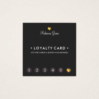 Carte De Visite Carré Carré mignon de fidélité de client de poinçon du