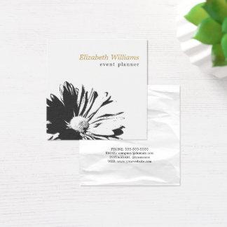 Carte De Visite Carré Fleuriste floral blanc élégant moderne de motif