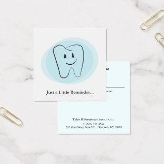 Carte De Visite Carré Rappel dentaire de rendez-vous de dentiste