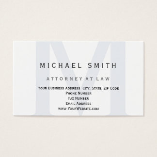 Carte de visite d'avocat